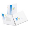 "Economy View Binder with Round Rings 1"" Capacity, White"