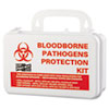 "Small Industrial Bloodborne Pathogen Kit, Plastic Case, 4.5""H x 7.5""W x 2.75""D"