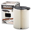 Standard Pleated Paper Vacuum Filter, For 5- to 20gal Wet/Dry Vacs