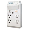 APC P4GC Power-Saving Timer Essential SurgeArrest Surge Protector, 4 Outlets, 1020 J APWP4GC APW P4GC