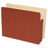 "End Tab File Pocket, Letter, 4"" Exp, Redrope"