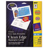 Avery Two-Sided Printable Clean Edge Business Cards, 2 x 3 1/2, Glossy White