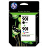 HP CN069FN Ink Cartridge, Black, Tricolor, 2/Pack