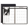 House of Doolittle Monthly Planner w/Black-&-White Photos, 8-1/2 x 11, Black, 2012-2014