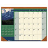 House of Doolittle Landscapes Photographic Monthly Desk Pad Calendar, 22 x 17, 2013