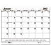 One-Color Dated Monthly Desk Pad Calendar Refill, 22w x 17h, 2013