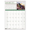 House of Doolittle Wild Birds Monthly Wall Calendar, 12 x 16-1/2, 2013