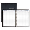 Eight-Person Group Practice Daily Appointment Book, 8 x 11, Black, 2013
