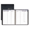 Professional Weekly Planner, 15-Minute Appointments, 8-1/2 x 11, Black, 2013