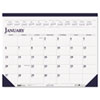 House of Doolittle Two-Color Monthly Desk Pad Calendar, 22 x 17, 2013