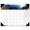 House of Doolittle Coastlines Photographic Monthly Desk Pad Calendar, 22 x 17, 2013