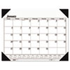 One-Color Refillable Monthly Desk Pad Calendar, 22 x 17, 2013