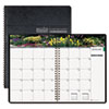 House of Doolittle Gardens of the World Ruled Monthly Planner, 7 x 10, Black, 2013