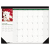 House of Doolittle Puppies Photographic Monthly Desk Pad Calendar, 22 x 17, 2013