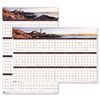 House of Doolittle Earthscapes Coastline Scenes Reversible/Erasable Wall Calendar, 24 x 37, 2014