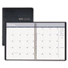 Ruled Monthly Planner, 14-Month December-January, 8-1/2 x 11, Black, 2012-2014