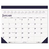 House of Doolittle Two-Color Refillable Monthly Desk Pad Calendar, 22 x 18, 2013