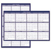 Poster Style Reversible/Erasable Yearly Wall Calendar, 24 x 37, 2013