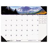House of Doolittle Mountains of the World Photographic Monthly Desk Pad Calendar, 22 x 17, 2013