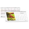 Garden Photos Desk Tent Monthly Calendar, 8-1/2 x 4-1/2, 2013