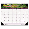 House of Doolittle Gardens of the World Photographic Monthly Desk Pad Calendar, 18-1/2 x 13, 2014