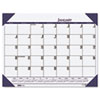 House of Doolittle EcoTones Ocean Blue Monthly Desk Pad Calendar, 22 x 17, 2015