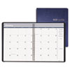 Ruled Monthly Planner, 14-Month December-January, 8-1/2 x 11, Blue, 2012-2014