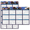 House of Doolittle Earthscapes Sea Life Scenes Reversible/Erasable Wall Calendar, 24 x 37, 2014
