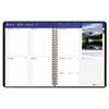 Earthscapes Executive Hardcover Weekly Appointment Book, 8-1/2 x 11, Black, 2013
