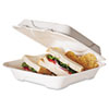 Eco-Products Sugarcane Compostable Clamshell Food Container, 3 x 9 x 9, White, 200/Carton