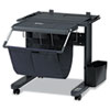 ST-11 Printer Stand, 25.9w x 29.6d x 26.3h, Black