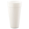 Dart Drink Foam Cups, Hot/Cold, 24oz, White, 500/Carton