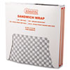 Bagcraft Papercon Grease-Resistant Wrap/Liners, 12 x 12, Black Checker, 1000/Box, 5 Boxes/Carton