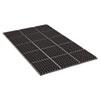 Crown Safewalk Heavy-Duty Anti-Fatigue Drainage Mat, General Purpose, 36 x 60, Black