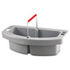Rubbermaid Commercial Maid Caddy, 2-Comp, 16w x 9d x 5h, Gray