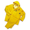 Rainsuit, PVC/Polyester, Yellow, Size Large