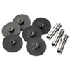 Swingline Replacement Head Punch Set, Three Heads/Five Discs, 9/32 Diameter Hole, Gray