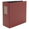 "D-Ring Binder, 5"" Capacity, 8-1/2 x 11, Maroon"