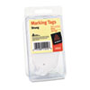 Marking Tags, 2 3/4 x 1 11/16, White, 100/Pack