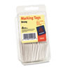 Avery Marking Tags, Paper, 1 3/4 x 1 3/32, White, 100/Pack