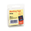 Marking Tags, 1 3/32 x 3/4, White, 100/Pack