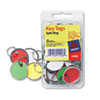 "Metal Rim Key Tags, Card Stock/Metal, 1 1/4"" Diameter, Assorted Colors, 50/Pack"