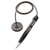 Wedgy Coil Ballpoint Counter Pen with Round Base, Blue Ink, Medium