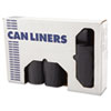 Low-Density Can Liners, 33gal, 1.1mil, 33 x 39, Gray, 25/Roll, 4 Rolls/Carton