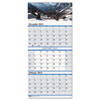 Scenic Landscapes Three-Months/Page Wall Calendar, 12-1/4 x 26-1/2, 2012-2014