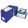 "Clean Touch Antimicrobial Locking D-Ring Binder, 11 x 8-1/2, 6"" Cap, Blue"