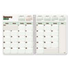 Blueline DuraGlobe Monthly Planner, Flex Cover, 11 x 8-1/2, Red/White, 2012-2014