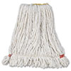 Rubbermaid Commercial Web Foot Wet Mop Head, Shrinkless, White, Small, Cotton/Synthetic, 6/Carton