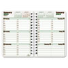 Blueline DuraGlobe Weekly Planner, Flex Cover, 8 x 5, Red/White, 2013