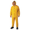 Rainsuit, PVC/Polyester, Yellow, Size 4X-Large
